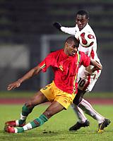 Fotball<br /> 20.11.2007<br /> Angola v Guinea<br /> Foto: Dppi/Digitalsport<br /> NORWAY ONLY<br /> <br /> FOOTBALL - FRIENDLY GAMES 2007/2008 - ANGOLA v GUINEA - 20/11/2007 - KANFORY SYLLA (GUI) / MANUCHO (ANG)
