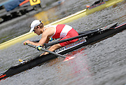 Motherwell, SCOTLAND. Sat Semi Finals, CAN BLM1X, Timothy COLSON, at the start, 2007 FISA U23 World Championship Regatta, Strathclyde Country Park, North Lanarkshire 28/07/2007 [Mandatory credit Peter Spurrier/ Intersport Images]