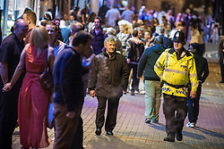 © Licensed to London News Pictures . FILE PICTURE DATED 05/05/2013 of Manchester's Police and Crime Commissioner , Tony Lloyd (left) on overnight patrol with PC Gary Cave in Central Manchester as the British Home Secretary , Theresa May , takes questions at the annual Police Federation conference on licensing and policing the night time economy , today (Wednesday 15th May 2013) . Photo credit : Joel Goodman/LNP