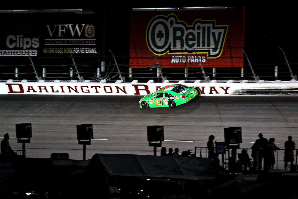 May 12, 2012; Darlington, SC, USA; NASCAR Sprint Cup driver Danica Patrick (10) during the Southern 500 at Darlington Raceway. Mandatory Credit: Peter Casey-US PRESSWIRE.