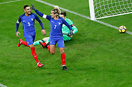 Antoine Griezmann (FRA) scored the first goal against Wayne Hennessey (WAL) and celebrated it during the 2017 Friendly Game football match between France and Wales on November 10, 2017 at Stade de France in Saint-Denis, France - Photo Stephane Allaman / ProSportsImages / DPPI