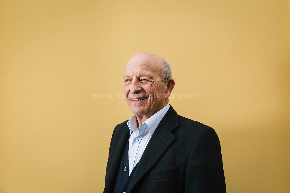 CONTURSI TERME, ITALY - 11 FEBRUARY 2020: Vincenzo Milito (72), founder of the family-owned Orogiallo pasta factory, poses for a portrait in Contursi Terme, Italy, on February 11th 2020.<br /> <br /> In April 2019, Snam was the first company in Europe to introduce a blend of 5% hydrogen and natural gas in its transmission network. The trial involved supplying H2NG (hydrogen-natural gas blend) for a month to two industrial companies in the area, a pasta factory and a mineral water bottling company. The trial at Contursi was repeated in December 2019, doubling the hydrogen blend to 10%.<br /> Applying a permanent 10% hydrogen blend to the total gas transported annually by Snam would mean that 7 billion cubic meters could be injected into the network each year, which is equivalent to the annual consumption of 3 million households. This would allow for a potential reduction of carbon dioxide emissions by 5 million tons.<br /> <br /> Italy is optimally positioned to become a leading hub for green hydrogen from North Africa to<br /> Europe. Italy could use its solar resources and its existing connection to North Africa (which has even better<br /> solar resources) to set up a leading hydrogen hub.<br /> <br /> Snam is one of the world's leading energy infrastructure companies and first in Europe by gas transmission network size (32,625 km in Italy, over 41,000 with international subsidiaries) and storage capacity (16.9 billion cubic meters in Italy, more than 20 bcm with international subsidiaries).<br /> <br /> In September 2018, together with other European companies, Snam signed a Hydrogen Initiative declaration to support hydrogen's potential as a sustainable energy source. The signatory companies have undertaken to gradually integrate hydrogen into gas transmission networks and to encourage their use as a solution for energy storage, as well as to support the development of hydrogen produced by electrolysis, which allows more efficient use of energy intermittent rene