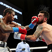 HOLLYWOOD, FL - APRIL 17:  Ortha Jones III punches Jorge Castaneda in the face at Seminole Hard Rock Hotel & Casino on April 17, 2021 in Hollywood, Florida. (Photo by Alex Menendez/Getty Images) *** Local Caption *** Ortha Jones III; Jorge Castaneda