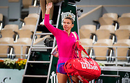 Simona Halep of Romania after losing against Iga Swiatek of Poland her fourth round match at the Roland Garros 2020, Grand Slam tennis tournament, on October 4, 2020 at Roland Garros stadium in Paris, France - Photo Rob Prange / Spain ProSportsImages / DPPI / ProSportsImages / DPPI