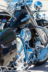 Classic Harley-Davidson Shovelhead Full Dresser at the Boardwalk Bike Show during Biketoberfest, Daytona Beach, FL, October 17, 2014, photographed by Michael Lichter. ©2014 Michael Lichter