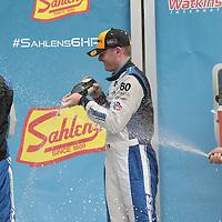 Watkins Glen, NY - Jul 03, 2016:  The IMSA WeatherTech Sportscar Championship teams celebrate after winning the Sahlens Six Hours At The Glen at Watkins Glen International in Watkins Glen, NY.