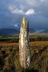 July 21, 2019 - Blackwater, County Kerry, Ireland, Standing Stone Near Kenmare (Credit Image: © Peter Zoeller/Design Pics via ZUMA Wire)
