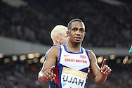 Chijindu Ujah of Great Britain in the 100m during the Sainsbury's Anniversary Games at the Queen Elizabeth II Olympic Park, London, United Kingdom on 24 July 2015. Photo by Phil Duncan.