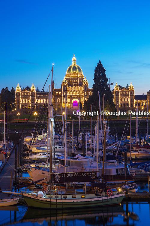 Parliment Building, Twilight, Victoria, Harbor, Vancouver Island, Brithish Columbia, Canada