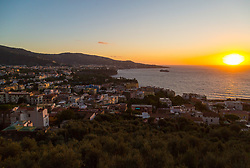 Sorrento, Italy, September 17 2017. The sun kisses the horizon near Sorrento, Italy. © Paul Davey
