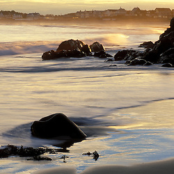 Wallis Sands State Park.  Atlantic Ocean. Low tide.  Sun-dog.  Rye, NH
