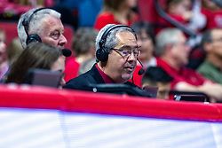 NORMAL, IL - December 07: Mike Matthews and Greg Halbleib during a college basketball game between the ISU Redbirds and the Morehead State Eagles on December 07 2019 at Redbird Arena in Normal, IL. (Photo by Alan Look)