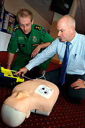 NHS GP surgery staff are trained how to resuscitate patients at doctors' surgeries by West Yorkshire Paramedics; Bradford UK