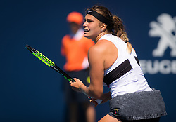 March 22, 2019 - Miami, FLORIDA, USA - Aryna Sabalenka of Belarus in action during the second-round at the 2019 Miami Open WTA Premier Mandatory tennis tournament (Credit Image: © AFP7 via ZUMA Wire)
