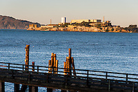 United States, California, San Francisco. Alcatraz from Fort Mason.