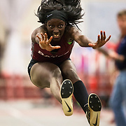 Bates women's track and field team hosts the Maine State Meet on February 2, 2018.
