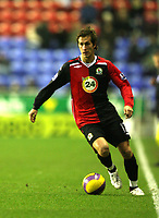 Photo: Paul Greenwood/Sportsbeat Images.<br />Wigan Athletic v Blackburn Rovers. The FA Barclays Premiership. 15/12/2007.<br />Blackburn's Morten Gamst Pedersen