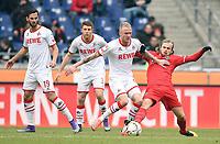 Fotball<br /> Tyskland<br /> Foto: Witters/Digitalsport<br /> NORWAY ONLY<br /> <br /> v.l. Mergim Mavraj, Dominique Heintz, Kevin Vogt, Iver Fossum (96)<br /> Hannover, 12.03.2016, Fussball Bundesliga, Hannover 96 - 1. FC Koeln 0:2