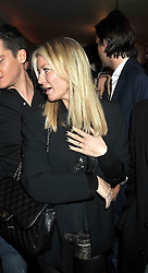 DENISE VAN OUTEN and engagement ring at a party to celebrate the opening of Barts, Sloane Ave, London on 26th February 2009.