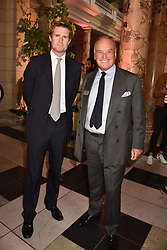 "Tristram Hunt and Nicholas Coleridge at the opening of ""Frida Kahlo: Making Her Self Up"" Exhibition at the V&A Museum, London England. 13 June 2018."