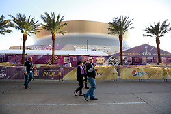 03 Feb 2013. New Orleans, Louisiana USA. .Super Bowl Sunday. Fans head to the Superdome where the city hosts the XLVII (47th) Annual Super Bowl with the Baltimore Ravens against the San Francisco 49'ers. .Photo; Charlie Varley