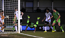 Jamille Matt of Forest Green Rovers heads the ball towards goal- Mandatory by-line: Nizaam Jones/JMP - 16/01/2021 - FOOTBALL - innocent New Lawn Stadium - Nailsworth, England - Forest Green Rovers v Port Vale - Sky Bet League Two