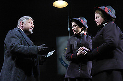 Major Barbara<br /> by Bernard Shaw<br /> at the Olivier Theatre, Southbank, London, Great Britain<br /> press photocall<br /> 3rd March 2008<br /> <br /> Hayley Atwell (as Barbara Undershaft)<br /> Simon Russell Beale (as Andrew Undershaft)<br /> Maggie McCarthy (as Mrs Baines)<br /> <br /> <br /> Photograph by Elliott Franks