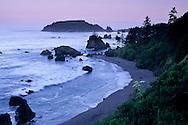 Dawn over the north coast at Trinidad, Humboldt County, California