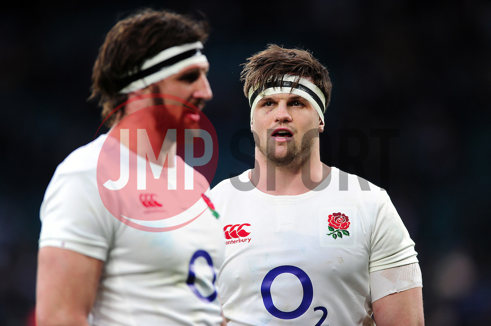 Jack Clifford of England looks on after the match - Mandatory byline: Patrick Khachfe/JMP - 07966 386802 - 26/02/2017 - RUGBY UNION - Twickenham Stadium - London, England - England v Italy - RBS Six Nations Championship 2017.