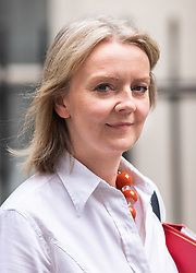 © Licensed to London News Pictures. 05/09/2018. London, UK. Chief Secretary to the Treasury Liz Truss leaves 11 Downing Street to attend Prime Ministers Questions in the House of Commons. Photo credit : Tom Nicholson/LNP