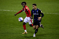 Marcus Tavernier of Middlesbrough takes on Alex Mighten of Nottingham Forest - Mandatory by-line: Robbie Stephenson/JMP - 20/01/2021 - FOOTBALL - City Ground - Nottingham, England - Nottingham Forest v Middlesbrough - Sky Bet Championship