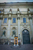Photo of a guard standing outside the Royal Palace in Stockholm, Sweden