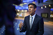 Rishi Sunak is a British Conservative Party politician serving as Member of Parliament for Richmond since the 2015 general election, speaks to the British Press at the BBC House after a TV debate of Tory Leadership Contenders in central London Tuesday, June 18, 2019. Sunak became Chancellor of the Exchequer since February 2020. Sunak previously served as Chief Secretary to the Treasury under Sajid Javid from July 2019 to February 2020. (Photo/Vudi Xhymshiti)