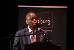Newly elected Mayor of Johannesburg, Herman Mashaba speaks at an event held in the Joburg Theatre to announce his MMC's on the 26th August 2016.