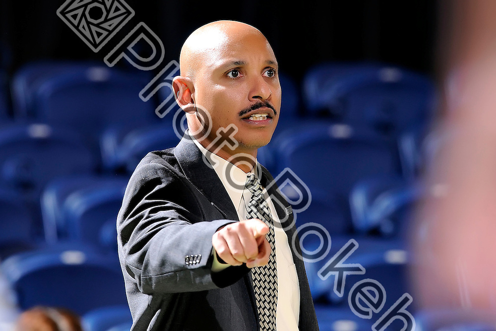 2016 February 04 - FIU's head coach Marlin Chinn. <br /> Florida International University defeated UAB, at FIU Arena, Miami, Florida. (Photo by: Alex J. Hernandez / photobokeh.com) This image is copyright by PhotoBokeh.com and may not be reproduced or retransmitted without express written consent of PhotoBokeh.com. ©2016 PhotoBokeh.com - All Rights Reserved