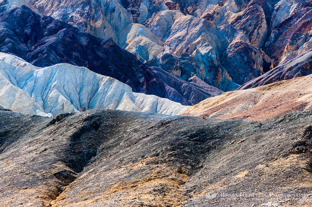 United States, California, Death Valley. The 20 Mule Team Canyon Road in Death Valley.