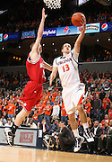 Virginia's Sammy Zeglinski_Virginia held North Carolina State scoreless for more than 7 minutes on the way to a 59-47 victory Wednesday night at the John Paul Jones Arena in Charlottesville, VA. Virginia (14-6, 5-2 Atlantic Coast Conference) regained a share of first place in the conference. (Photo/Andrew Shurtleff)....