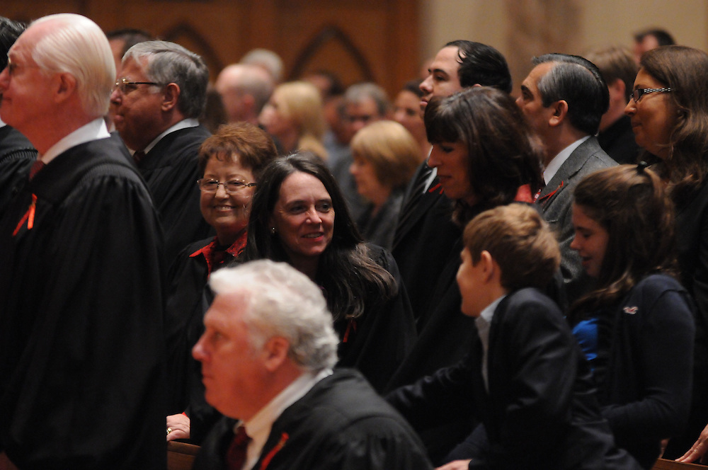 Members of Illinois' legal community are gathered for the Catholic Lawyers Guild Annual Red Mass at Holy Name Cathedral, celebrated by Francis Cardinal George.