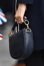 Meghan Markle's handbag as she meets members of the public on a walkabout with Prince Harry during a visit to Millennium Point in Birmingham, as part of the latest leg in the regional tours the couple are undertaking in the run-up to their May wedding.