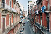 Una strada del quartiere Murat durante la quarantena dovuta all'emergenza sanitaria Covid19. Bari 13 Aprile 2020. Christian Mantuano / OneShot