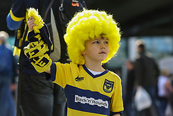 A young Oxford United fan displays his team colours with pride - Photo mandatory by-line: Jason Brown/JMP -  02/04//2017 - SPORT - Football - London - Wembley Stadium - Coventry City v Oxford United - Checkatrade Trophy Final