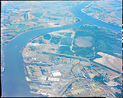 """""""Aerials of Rivergate area. August 4, 1967"""" (B&W see 14747)"""