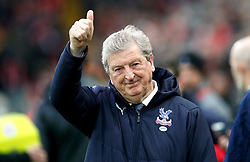 Crystal Palace manager Roy Hodgson prior to kick-off during the Premier League match at Anfield, Liverpool.