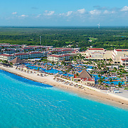 Aerial photo of Moon Palace Hotel. Riviera Cancun.