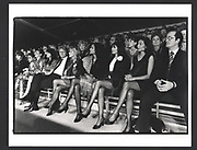 Liz Brewer, Shakira Caine, Dorit Zarach, Lady Russell and Lord Francis Russell at a Yves St. Laurent fashion show. Duke oof Yorks Barracks. London. 22 September 1988Exhibition in a Box