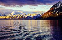 On board M/S Nordlys hurtigruten (coastal steamer), North of Tromso, Arctic, Northern Norway