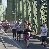 People participate the Budapest Half Marathon across the streets in Budapest, Hungary on Sept. 6, 2020. ATTILA VOLGYI