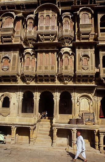 haveli, rich merchant's house in Jaisalmer Rajahstan India