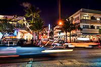 Night Scene along Ocean Drive