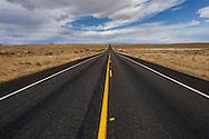 Road through Utah, near Capitol Reef National Park, Utah, USA